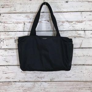 Kate spade plain black nylon shoulder bag